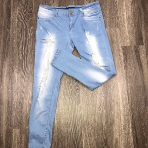 V.I.P Light Wash Distressed Jeans